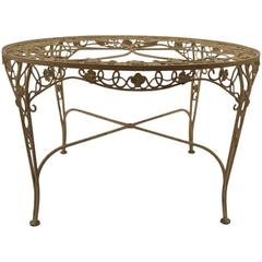 Round Woodard Garden Patio Dining Table