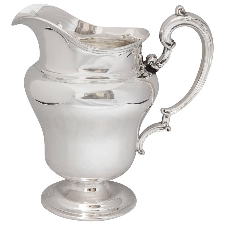 Art Nouveau Sterling Silver Water Pitcher By Frank M. Whiting & Co. For Sale
