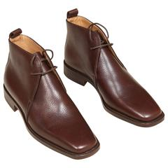 Hermes Ladies Brown Leather Boots, New