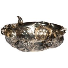 Fine Nuremberg Silver and Parcel-Gilt Bon Bon Dish