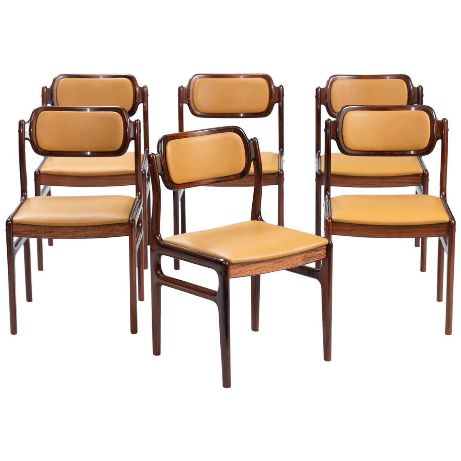 Set Of Six Rosewood Dining Chairs At 1stdibs