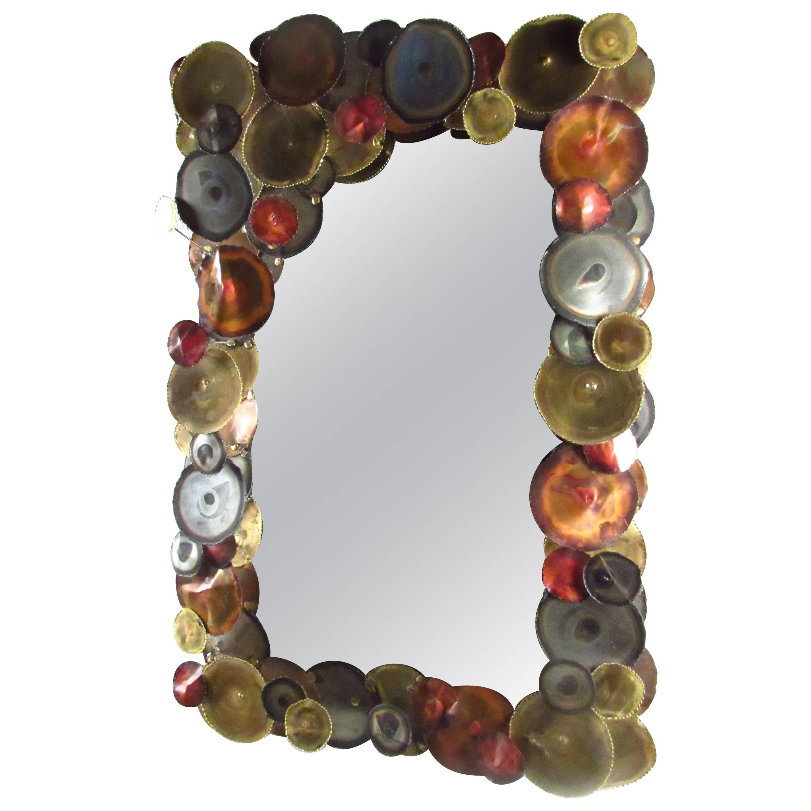 Mid-Century Wall Mirror after Curtis Jere