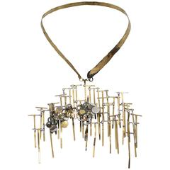 Brutalist Brass Necklace
