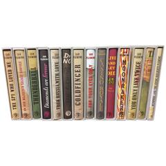 James Bond by Ian Fleming, Complete 14 Volume Set with Dust Jackets & Slipcases