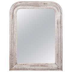 19th Century Silver Giltwood Mirror, France, circa 1870