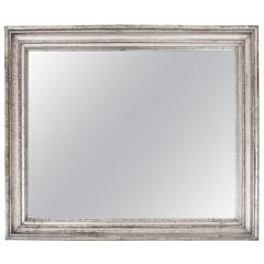 Early 19th Century Silver Giltwood Mirror, France, circa 1840