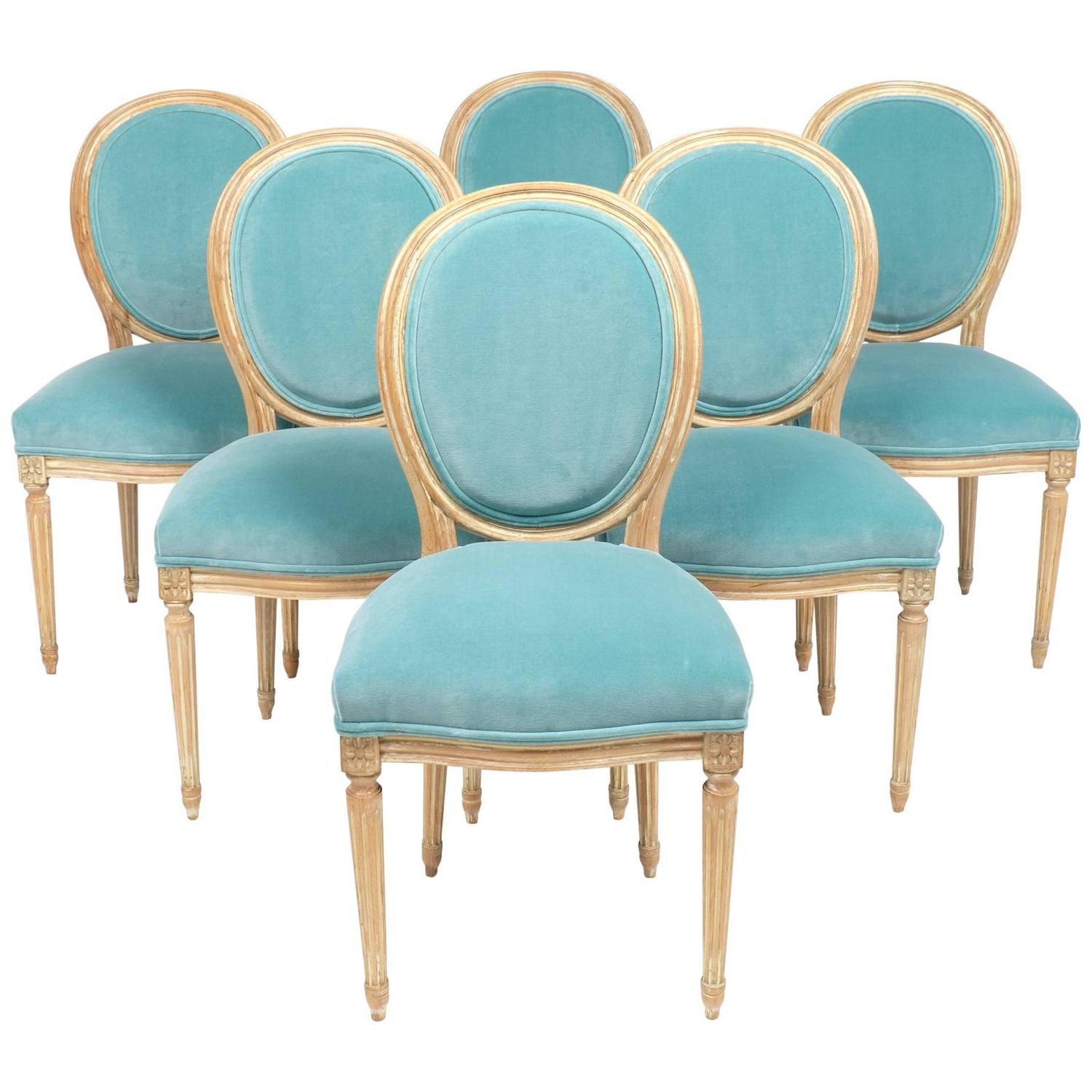 Antique Louis XVI Medallion Back Dining Chairs at 1stdibs