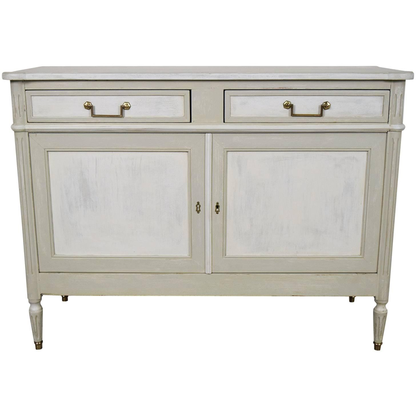 Antique french louis xvi painted buffet or sideboard at for Painted buffet sideboard