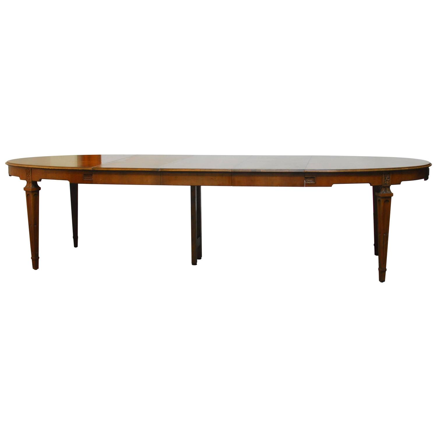 baker french collection walnut dining table at 1stdibs