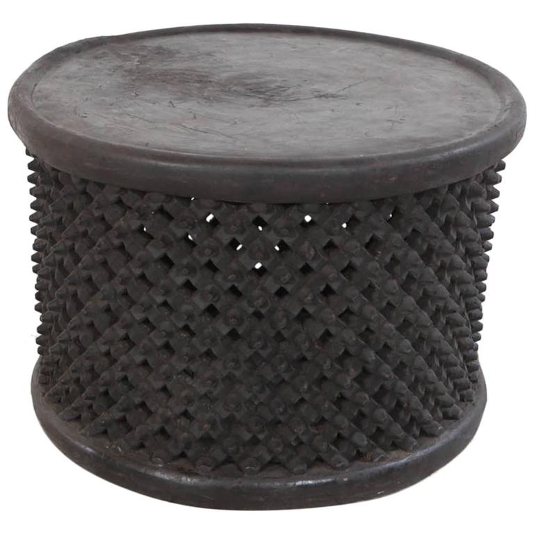 Round African Stool Or Drum Table From Cameroon At 1stdibs