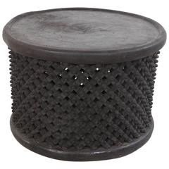Round African Stool or Drum Table from Cameroon