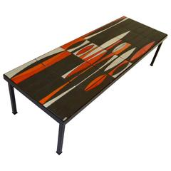 "Iconic Coffee Table ""Navette"" by Roger Capron, circa 1950"