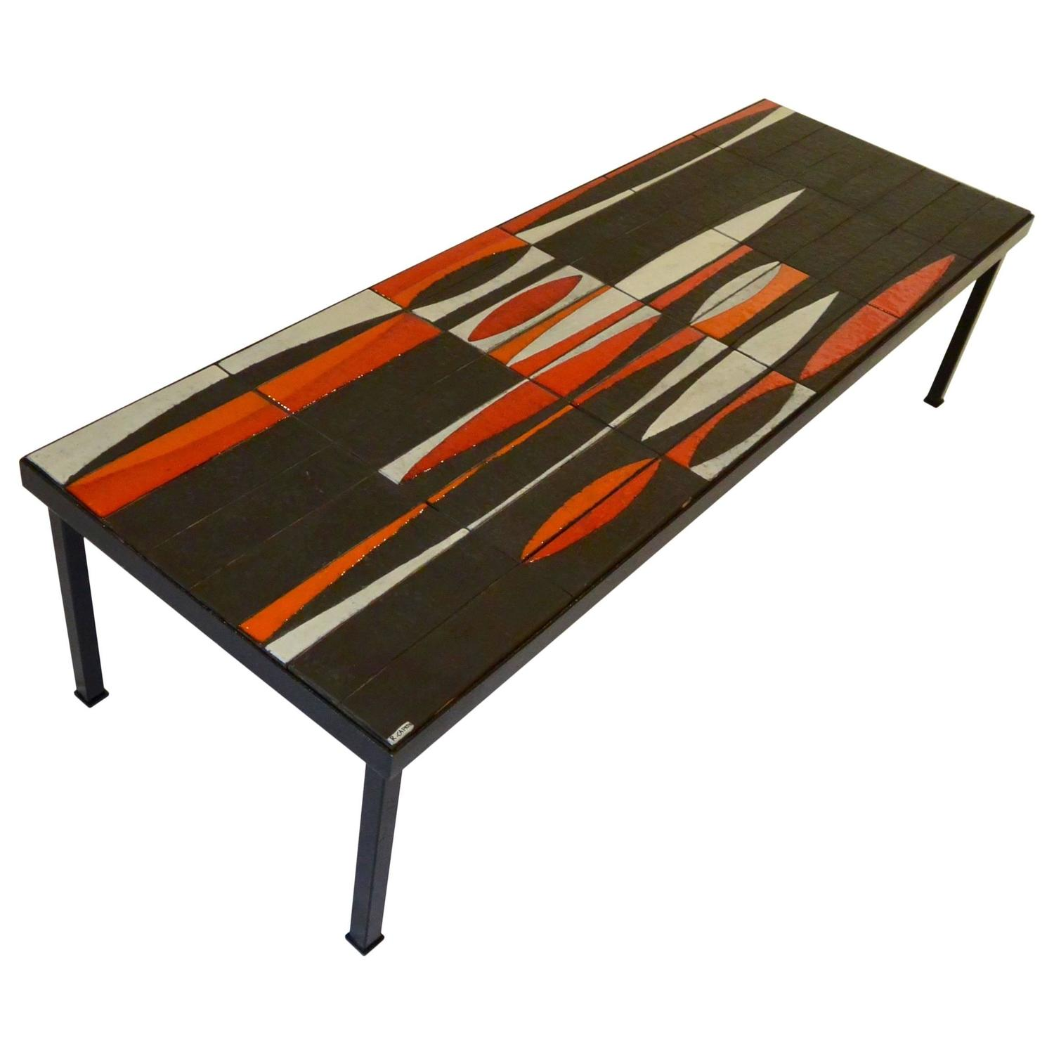 """Iconic Coffee Table """"Navette"""" by Roger Capron circa 1950 at 1stdibs"""