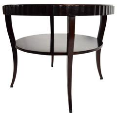 Barbara Barry Fluted Edge Table by Baker
