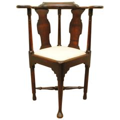 Mid-18th Century Mahogany Corner Chair