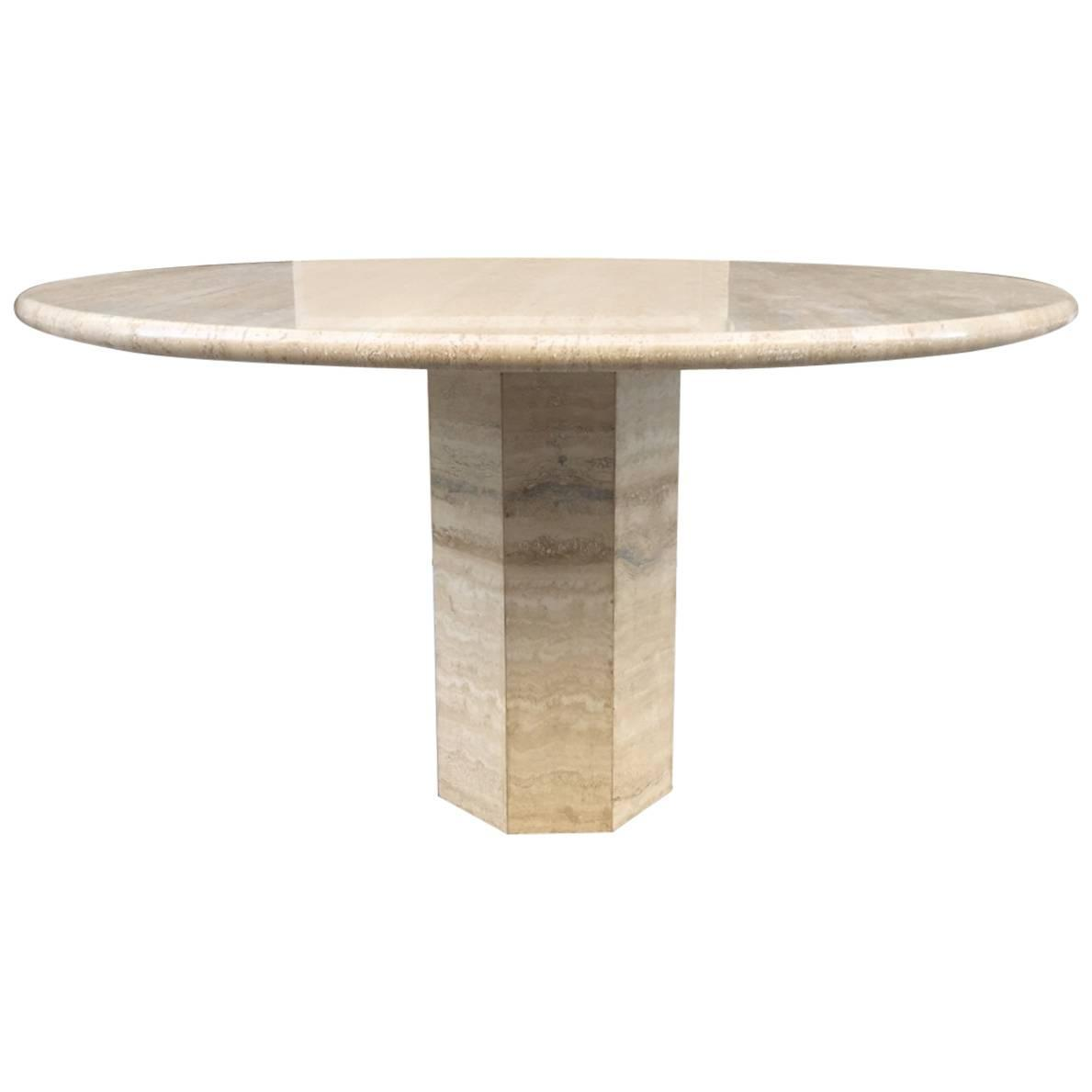 Italian travertine dining table at 1stdibs for Italian dining table