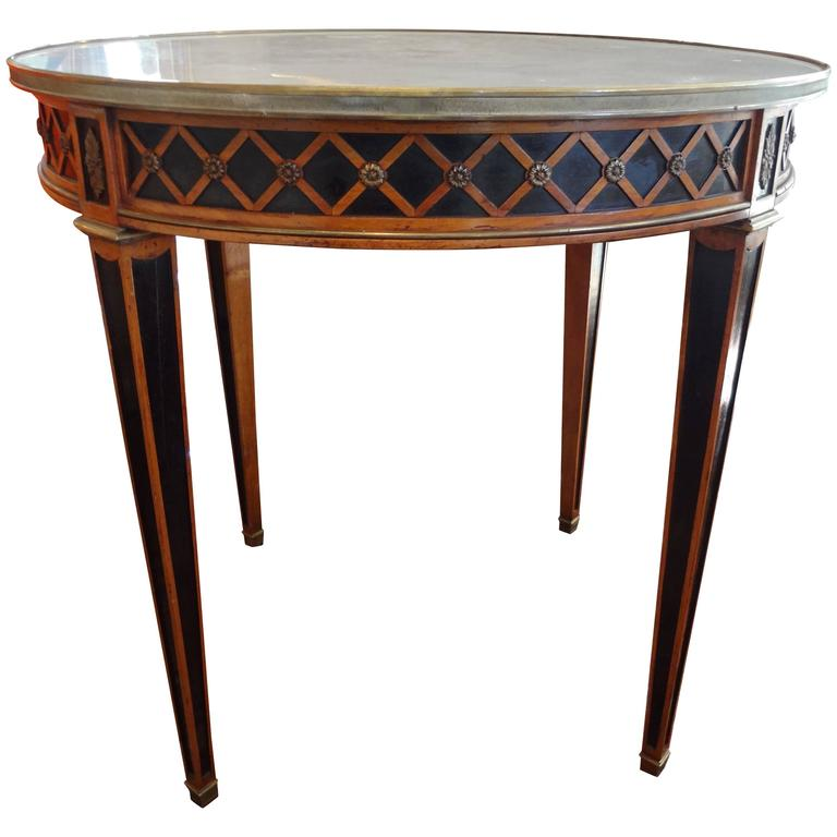 French Louis XVI Style Maison Jansen Attributed Table With Marble Top, 1940's