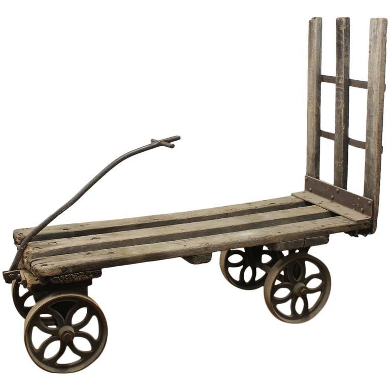 Antique American Industrial Cart