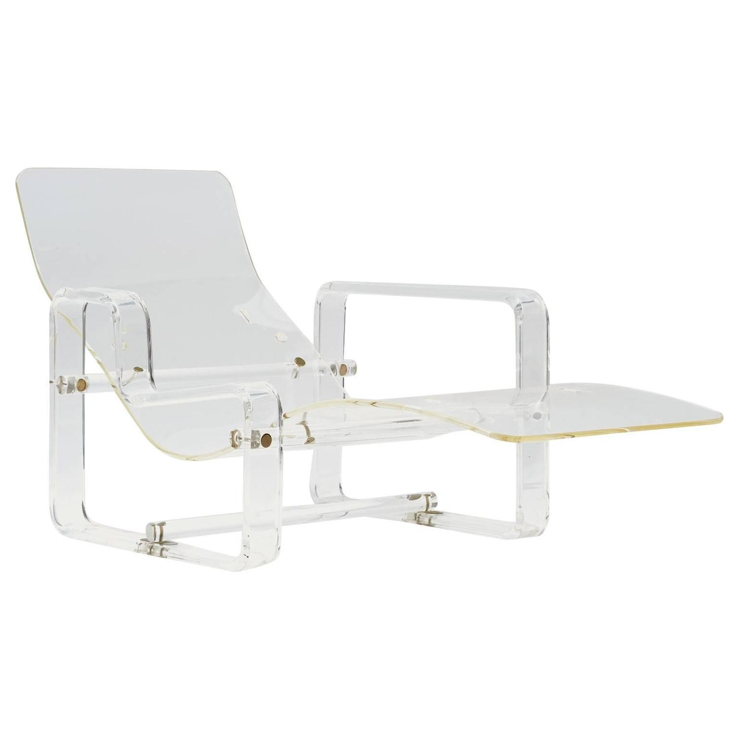 Charles hollis jones lucite chaise at 1stdibs for Chaise charles