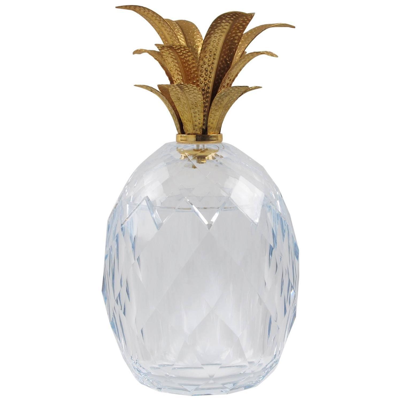 Hollywood Regency Pineapple Lucite Ice Bucket At 1stdibs