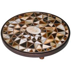 Roger Capron - Exceptional Round Low Table - Vallauris France c. 1980