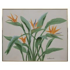 Large Tropical Floral Bird of Paradise Painting by Lee Reynolds