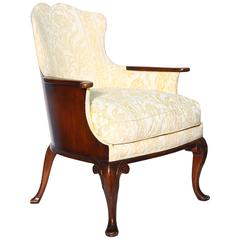Refined and Unusual Georgian Style Mahogany Bergere
