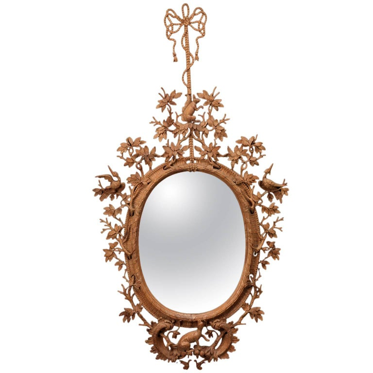 Squirrel Mirror in the manner of Thomas Johnson  For Sale