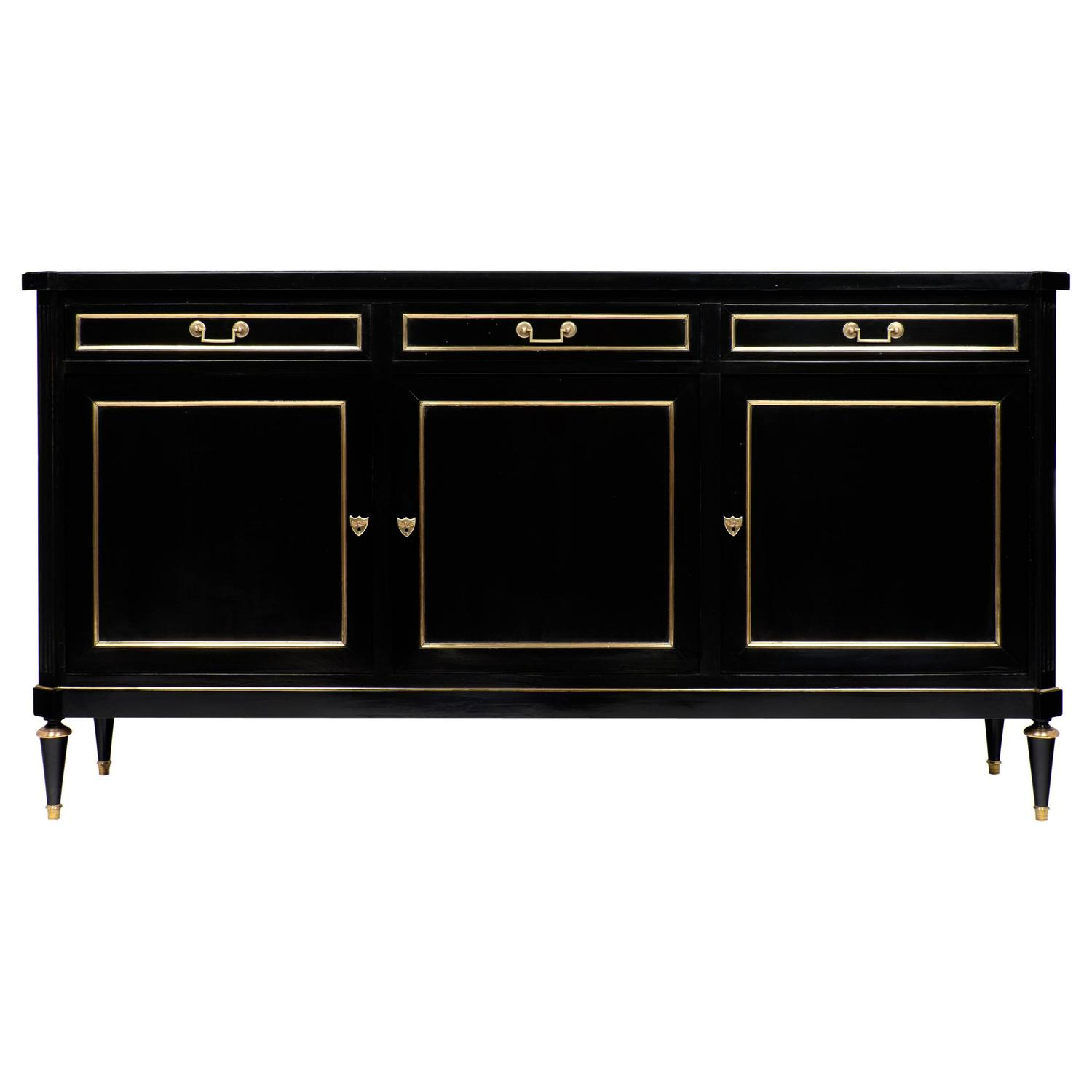 Antique louis xvi style ebonized sideboard at 1stdibs for Sideboard vintage look