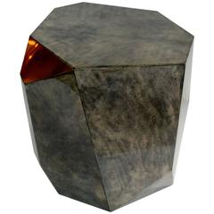 Rock Design Parchment Side Table