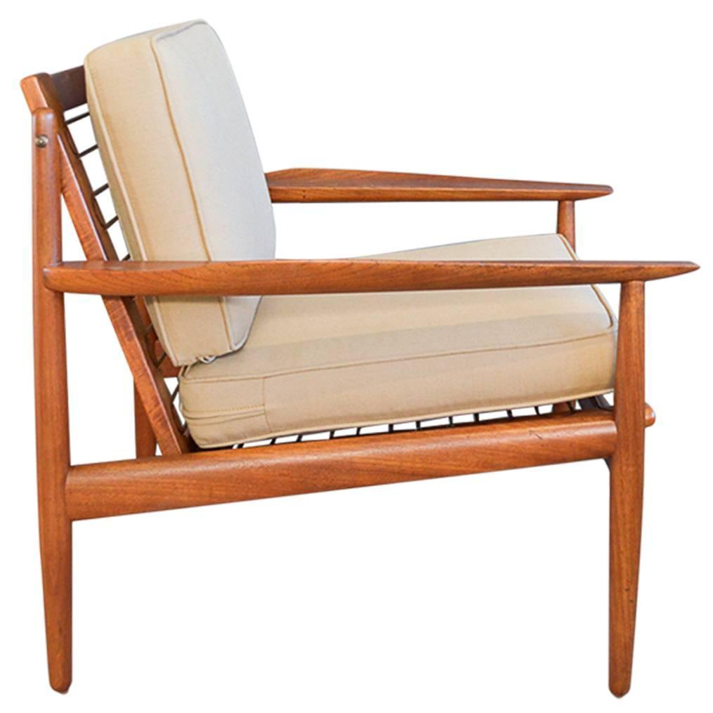 Superieur Arne Vodder For Glostrup Teak Lounge Chair For Sale At 1stdibs