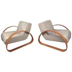 Pair of Modern Italian Lounge Chairs by Armani Casa