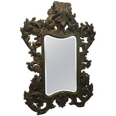 Ornate Rococo Styled Mirror, Midcentury