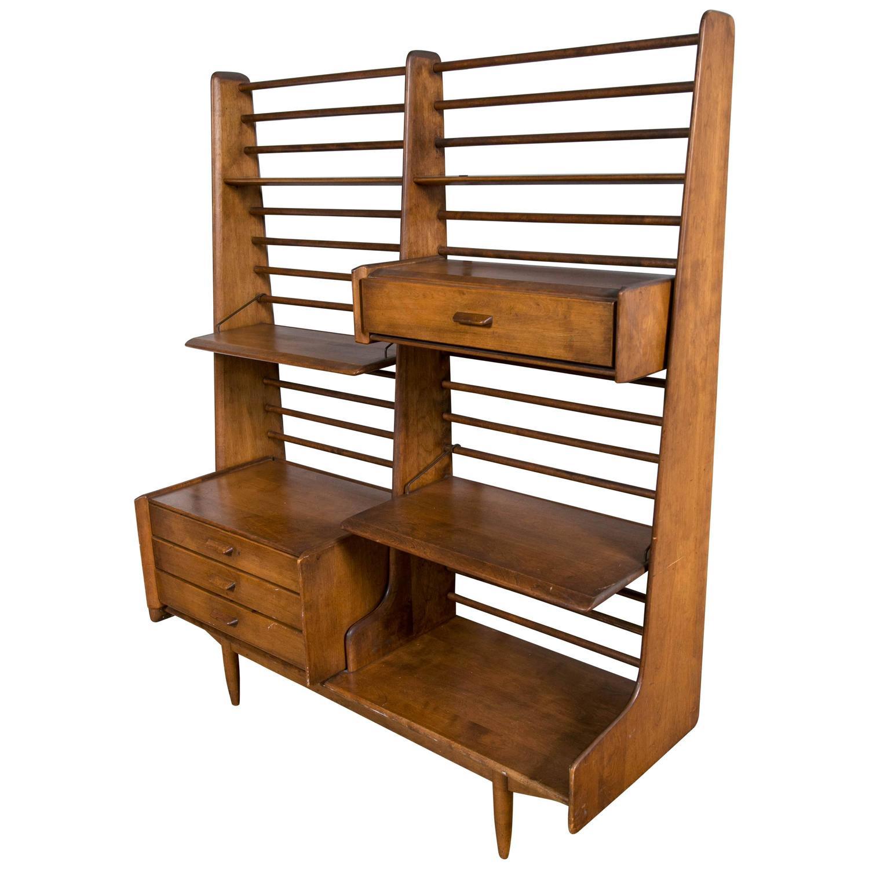 mid century modern room divider or shelving wall unit at. Black Bedroom Furniture Sets. Home Design Ideas