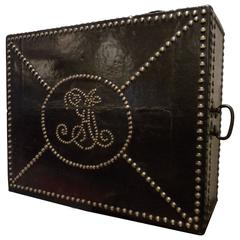 Studded Leather Deed Box