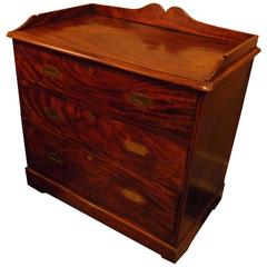 Exquisite Naval Campaign Chest of Drawers