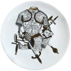 Piero Fornasetti Plate with Coats of Armour, the Armature Pattern