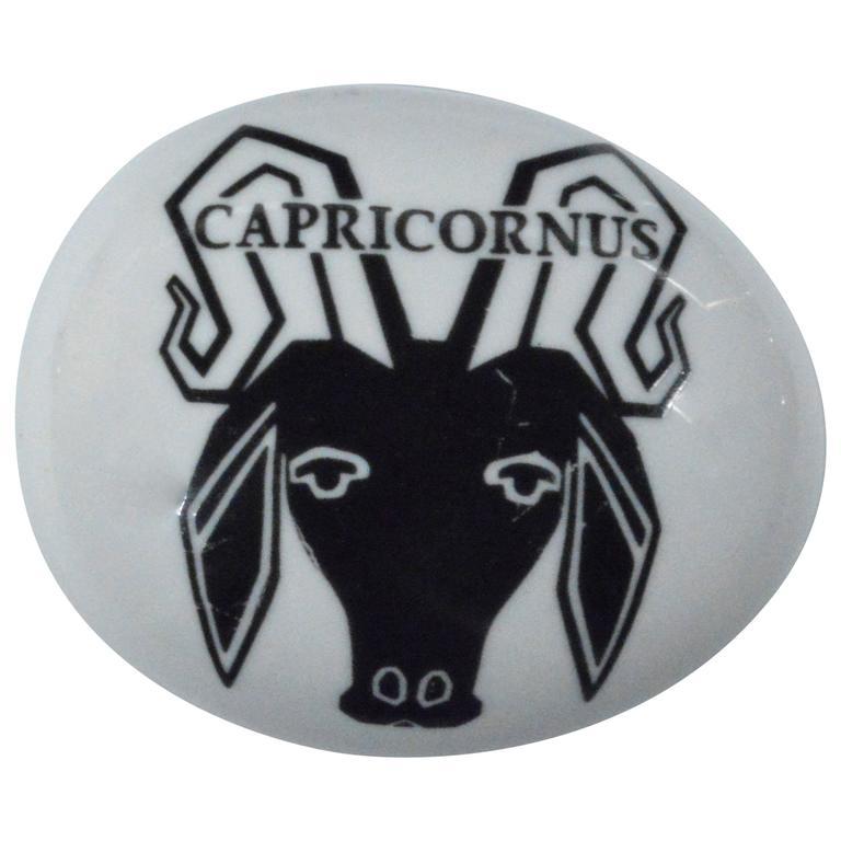 Piero Fornasetti Capricorn Zodiac Ceramic Paperweight