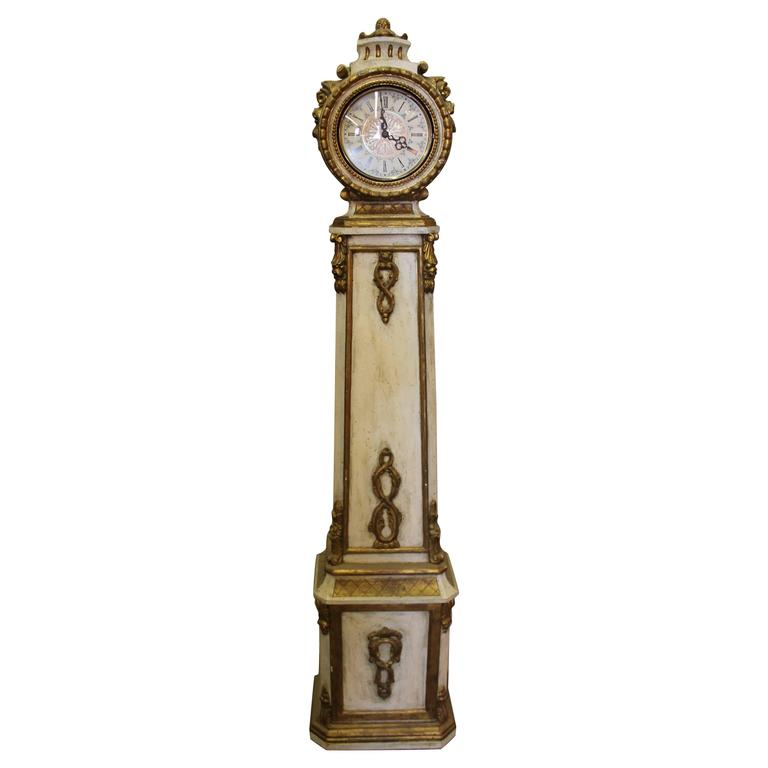 Italian Florentine Gilt Grandmother Clock At 1stdibs