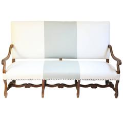 Late 19th Century Louis XIV Style Sofa in Linen