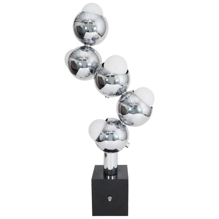 Robert Sonneman Style Five Light Molecule Table Lamp In