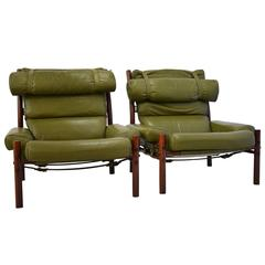 Two Inca Lounge Chairs by Arne Norell