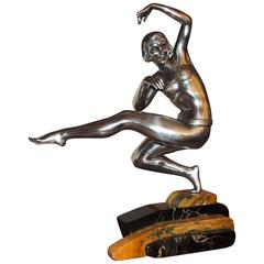 Art Deco Harem Dancer Sculpture by Van de Voorde