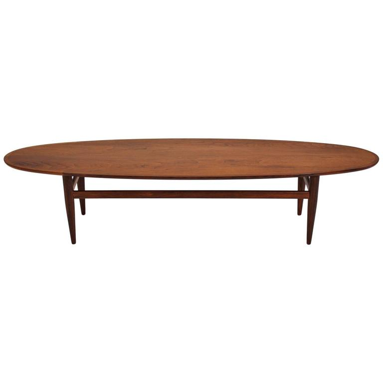Reserved Mid Century Modern Lane Burl Wood Surfboard Coffee: Henredon Modernist Surfboard Walnut Coffee Table At 1stdibs
