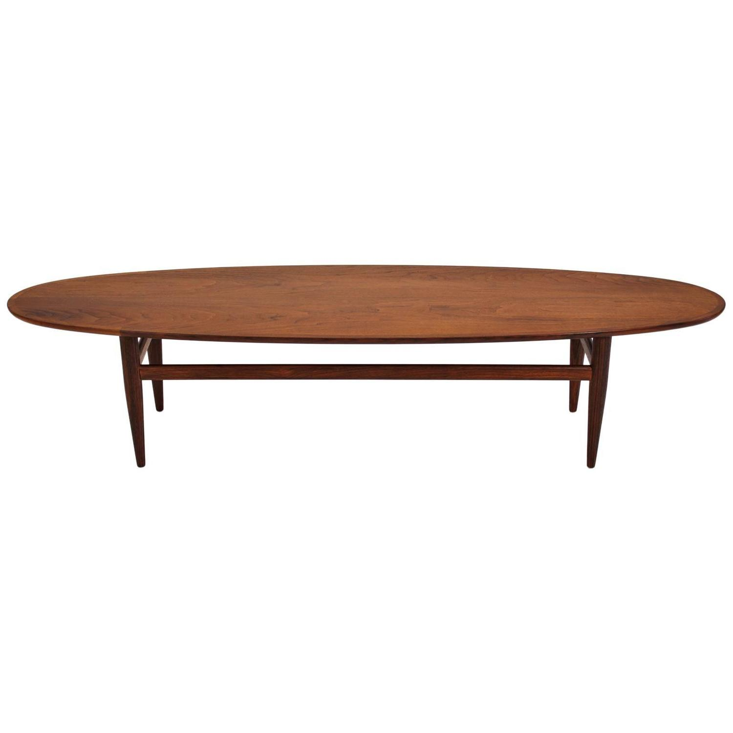 Henredon Modernist Surfboard Walnut Coffee Table At 1stdibs