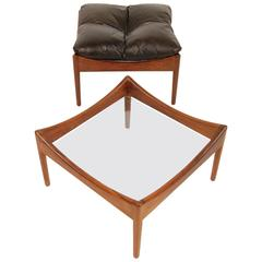 Kristian Vedel Rosewood Table & Ottoman