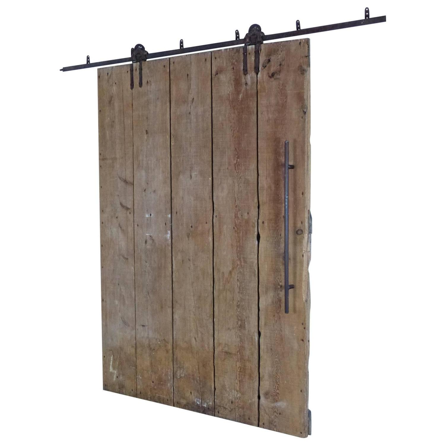 Wooden Barn Door On Tracks At 1stdibs