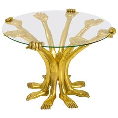 Surrealism Sculptural Hand Table Pedro Friedeberg For Sale At 1stdibs