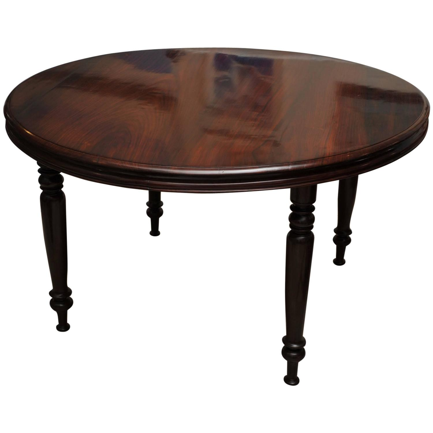 late 19th century british campaign rosewood round dining table for sale at 1stdibs. Black Bedroom Furniture Sets. Home Design Ideas