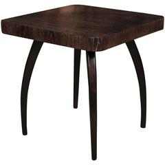 Jindrich Halabala Ocasional Table with Cerused Top, 1940s